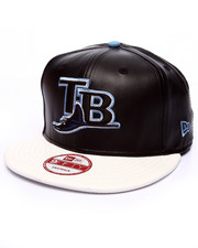 New Era - Tampa Bay Rays faux leather custom snapback hat