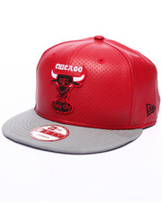 New Era - Chicago Bulls Red faux leather custom snapback hat