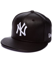 New Era - New York Yankees Pebbled faux leather custom fitted hat