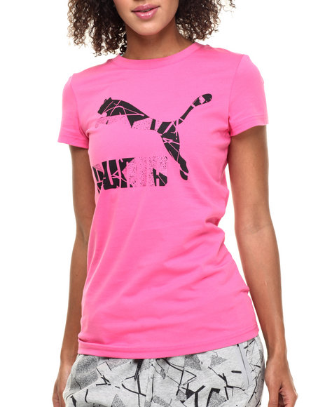 Puma - Women Pink Archive Logo Tee