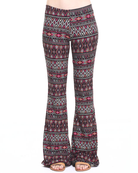 Fashion Lab - Women Black,Multi Amina Knit Flare Pant