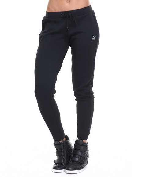 Puma - Women Black Tech Sweatpants