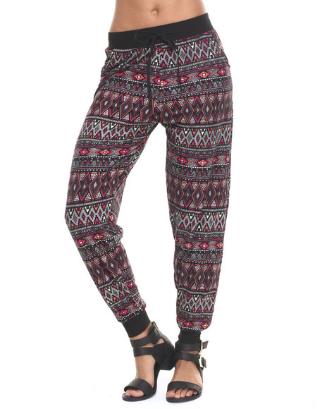 Fashion Lab - Women Black,Multi Amina Knit Jogger - $14.99