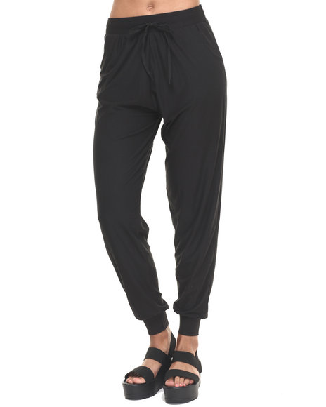 Fashion Lab - Women Black Black Knit Jogger - $13.99
