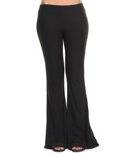 Bottoms - Black Knit Flare Pant