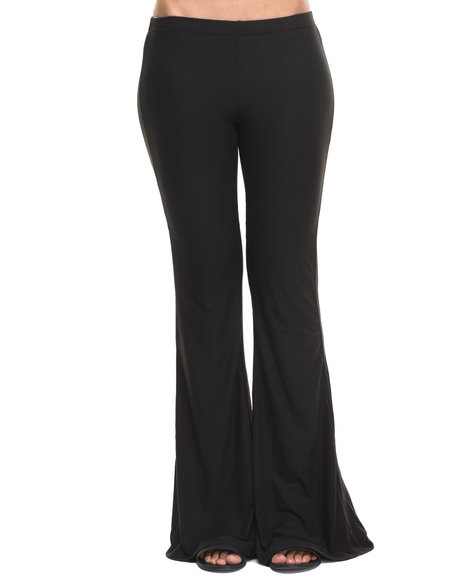Fashion Lab - Women Black Black Knit Flare Pant - $13.99