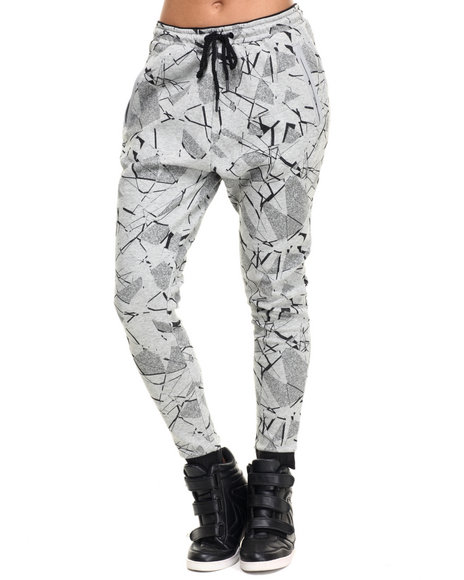 Puma - Women Grey Printed Sweatpants