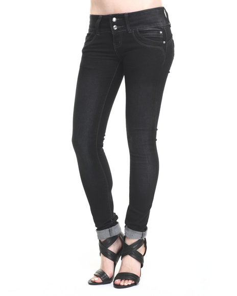 Basic Essentials - Women Black Stretch Denim Skinny Jean