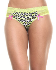 Panties - Spot Mesh Animal Trim Hipsteer