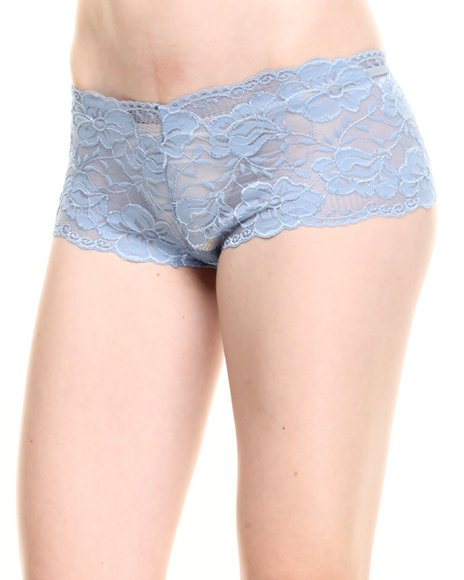Drj Lingerie Shoppe - Women Grey,Light Blue Galloon Lace Short - $3.99