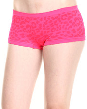 Panties - Cheetah Textured Scalloped Seamless Hipster