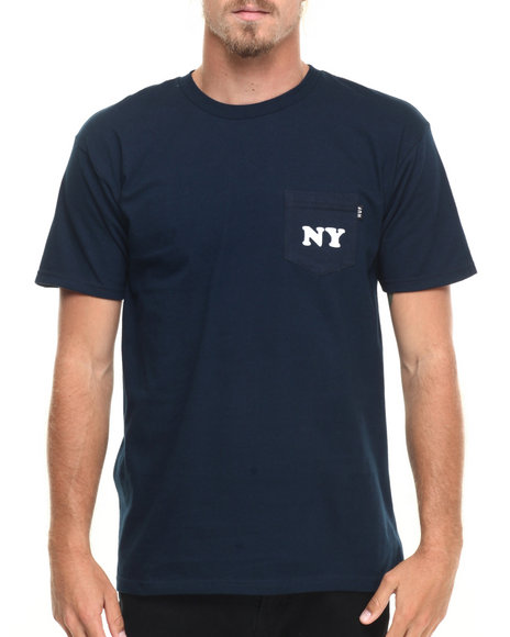 Huf - Men Navy Cities Pocket Tee