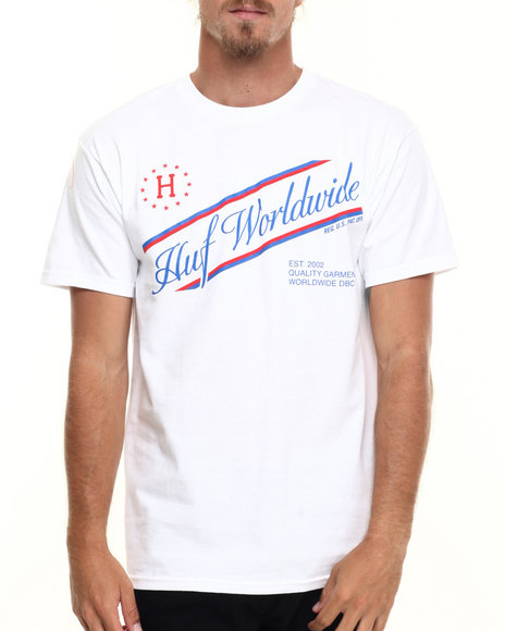 Huf - Men White Athletics Tee