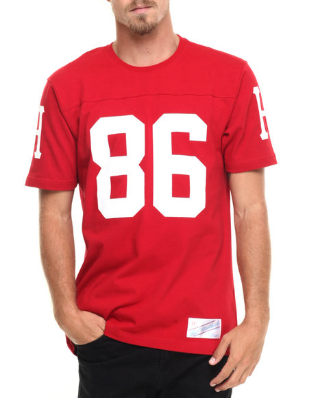 Huf - Men Red Layne Crew S/S Football Jersey