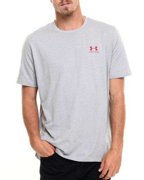 Under Armour - Men Grey Charged Sportstyle Left Chest Logo S/ Tee