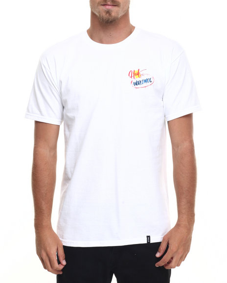 Huf - Men White Huf Shrooms Tee