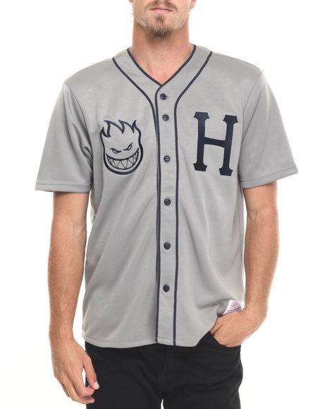 Huf - Men Grey Spitfire Baseball Jersey