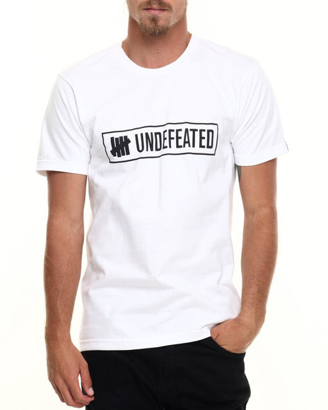Undftd - Men White Outline Tee