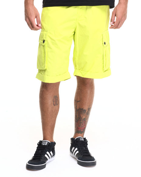Rocawear - Men Yellow Poplin Cargo Shorts