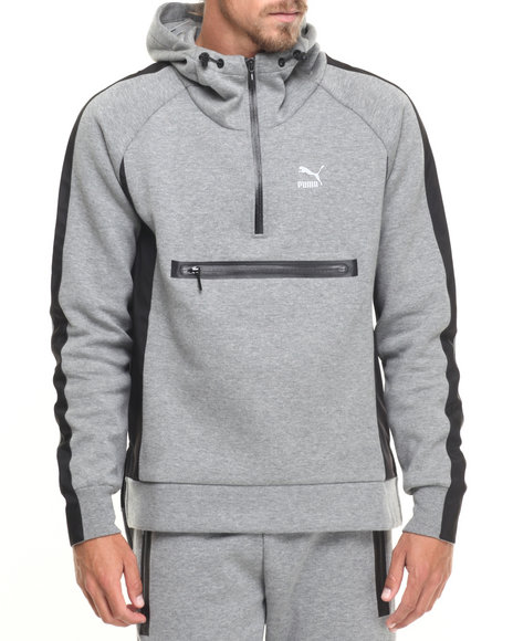 Puma - Men Grey Evo Savannah 3 / 4 - Zip Fleece Jacket
