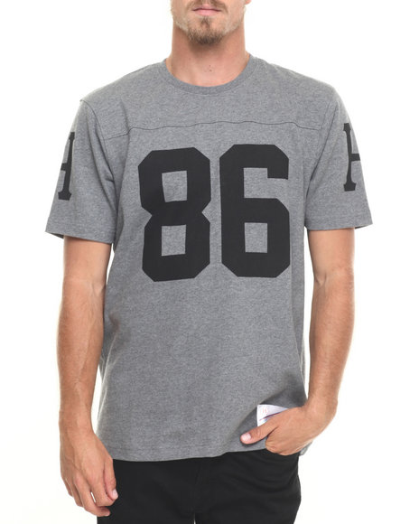 Huf - Men Grey Layne Crew S/S Football Jersey