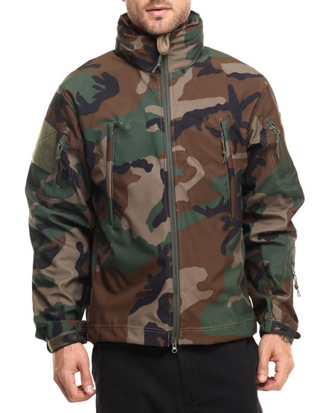 Rothco Men Rothco Special Ops Tactical Softshell Jacket Woodland Camo Large