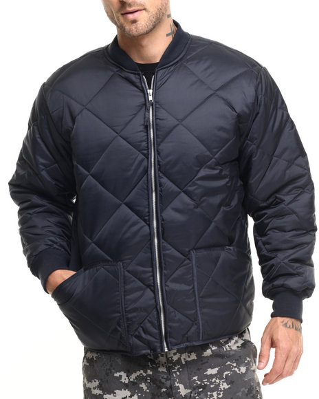 Rothco Men Rothco Diamond Nylon Quilted Flight Jacket Blue Medium