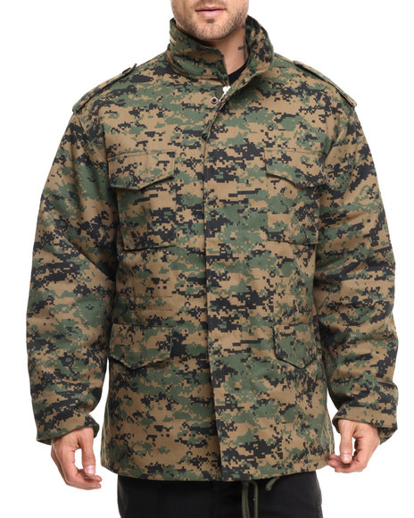 Rothco - Men Woodland Digital Camo Rothco M-65 Camo Field Jacket