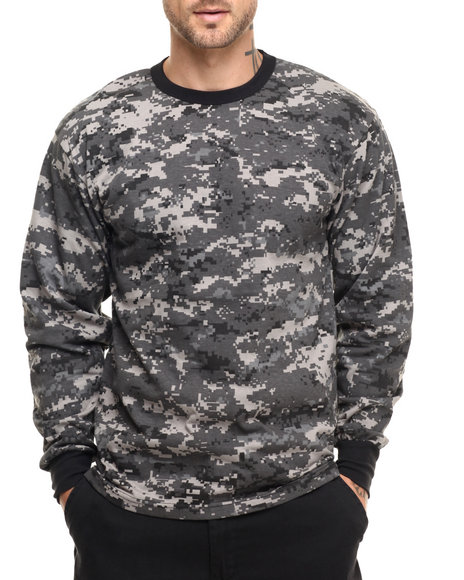 Rothco - Men Subdued Urban Digital Camo Rothco Long Sleeve Digital Camo T-Shirts