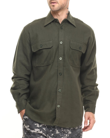 Rothco Men Rothco Heavy Weight Solid Flannel Shirt (B&T) Olive Drab 3X-Large