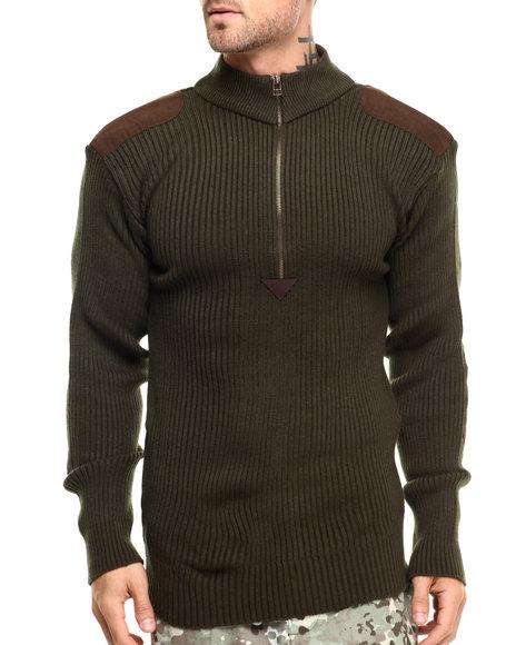 Rothco - Men Olive Drab Rothco Quarter Zip Commando Sweater