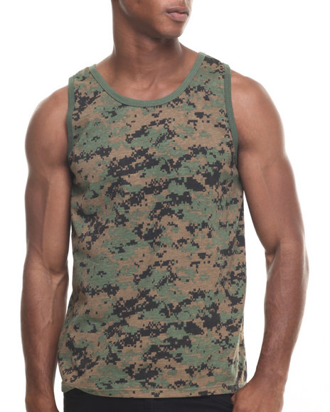 Rothco Men Rothco Camo Tank Top Woodland Digital Camo X-Large