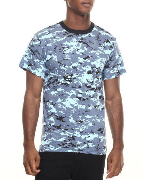 Rothco - Men Sky Blue Digital Camo Rothco Digital Camo T-Shirt