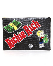 Handbags - Richie Rich Patched Clutch