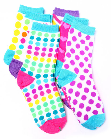 Drj Sock Shop Girls Candy Factory 6Pk Crew Socks (Girls 6-8 1/2) Multi 6-8.5 - $2.99