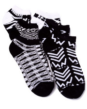 Girls - Graphic Printed 6Pk No Show Socks (Girls 6-8 1/2)