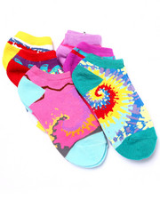 Girls - Tie Dye Prints 6Pk No Show Socks (Girls 6-8 1/2)