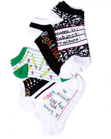 Drj Sock Shop Women Back-To-School 5Pk No Show Socks Black 9-11 - $4.99
