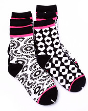 Girls - Conversational Prints 6Pk Crew Socks (Girls 6-8 1/2)