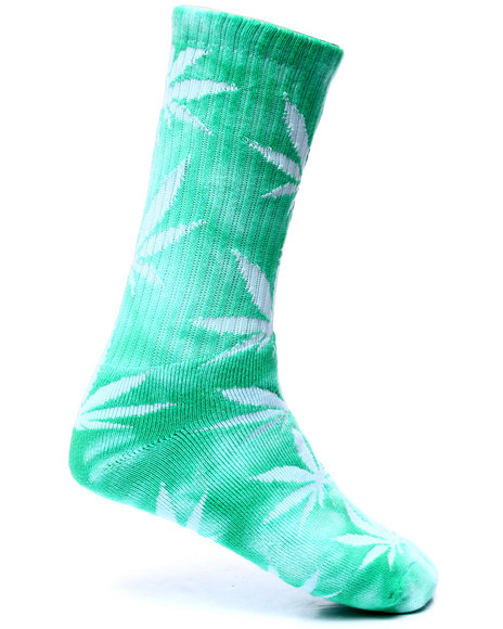 Huf - Men Green Tie Dyed Plantlife Crew Socks