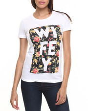 Tops - Wifey Floral Graphic Tee