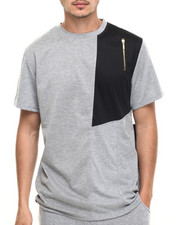 Buyers Picks - Mesh Cut & Sew Tee w Zip Detail
