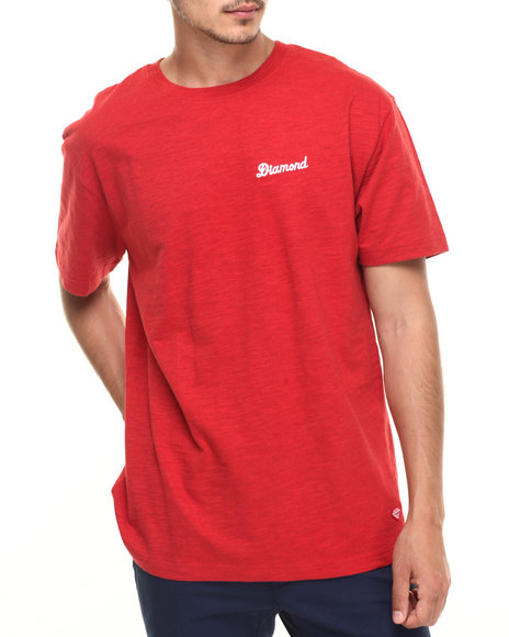 Diamond Supply Co - Men Red City Script Tee