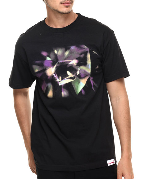 Diamond Supply Co - Men Black Diamond Inclusion Tee