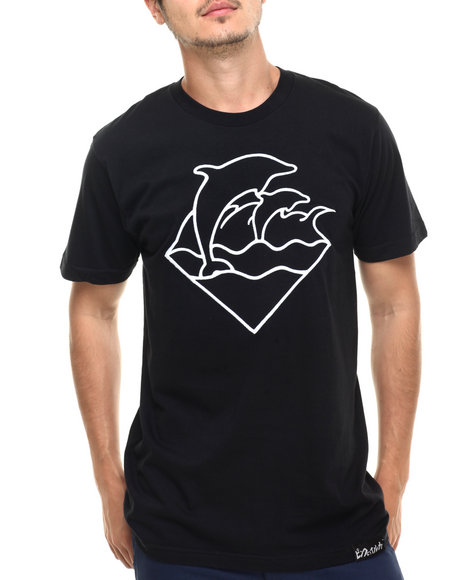 Pink Dolphin - Men Black Waves S/S Tee