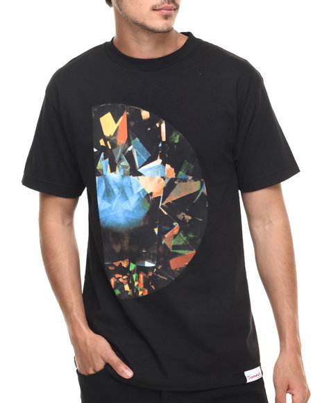 Diamond Supply Co - Men Black Half Diamond Tee