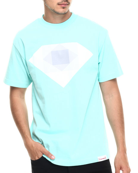 Diamond Supply Co - Men Teal Rotoscope Tee