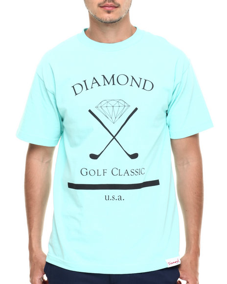 Diamond Supply Co - Men Teal Golf Classic Tee