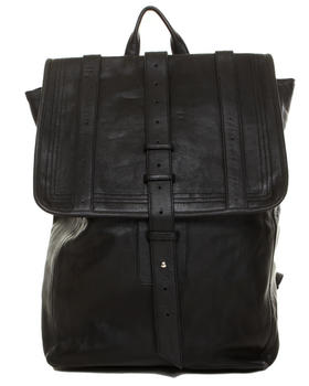 -FEATURES- - Leather Backpack with Chest Strap