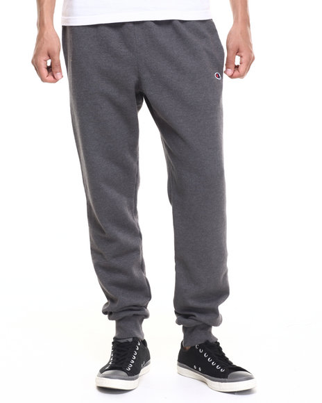 Champion - Men Charcoal Retro Fleece Jogger Pant - $21.99
